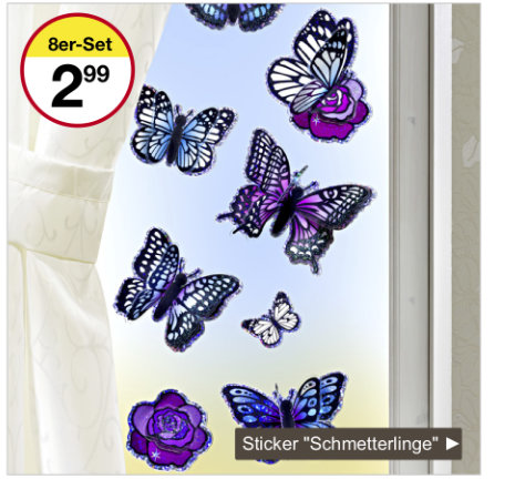 Sticker Schmetterlinge