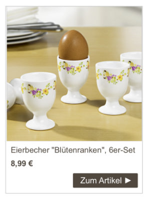 Eierbecher Blütenranken, 6er-Set