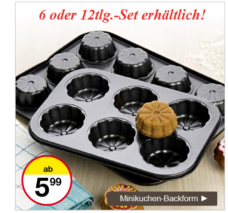 Minikuchen-Backform
